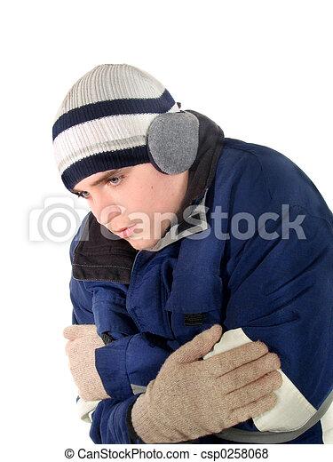 Afuera en el frío - csp0258068