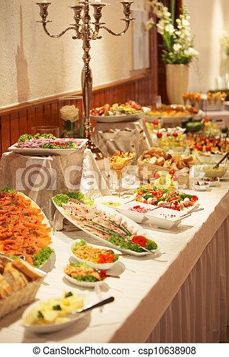 frío, exhibición, buffet - csp10638908