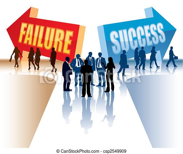 fracasso, ou, sucesso - csp2549909