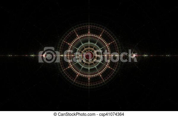 fractal color target - csp41074364