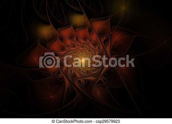 fractal flower - csp29579923