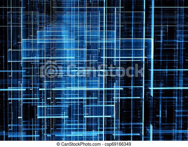 Fractal grid - abstract digitally generated image - csp69166349