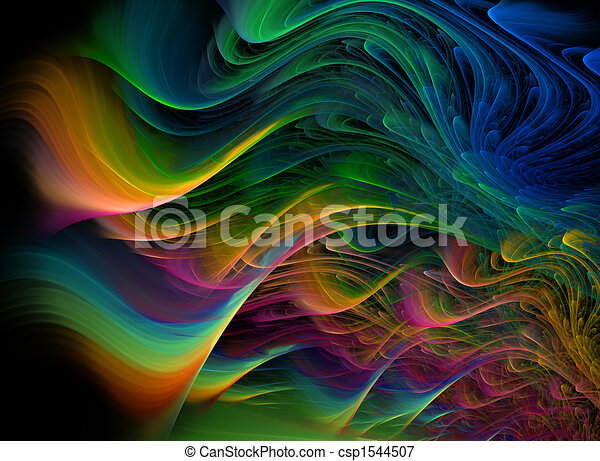 Fractal multicolored waves - csp1544507