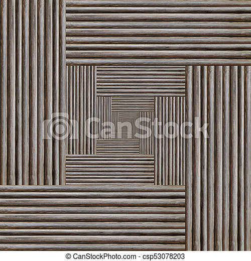 fractal portal abstract background, the illusion of volume infinity, gray monochrome texture wooden wall - csp53078203