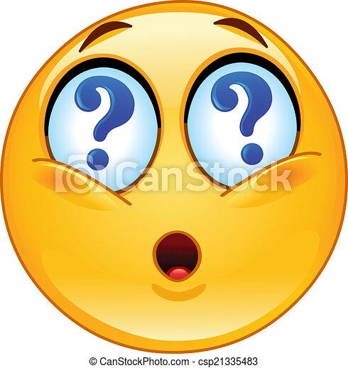 Fragezeichen smileys mit Fragezeichen statt