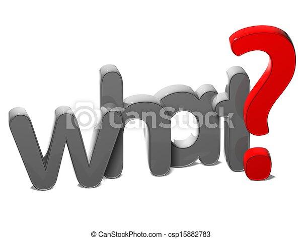 frage, was, hintergrund, 3d, wort, weißes - csp15882783