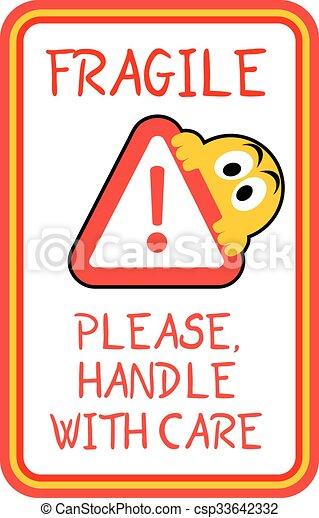 creative design of fragile advise sticker rh canstockphoto com fragile legacy fragile low self esteem