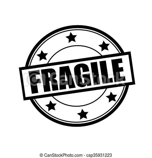 fragile black stamp text on circle on white background and clip rh canstockphoto com fragile lower back fragile low self esteem