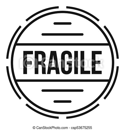 fragile logo simple style fragile logo simple stock rh canstockphoto com fragile logo on product fragile logo handle care