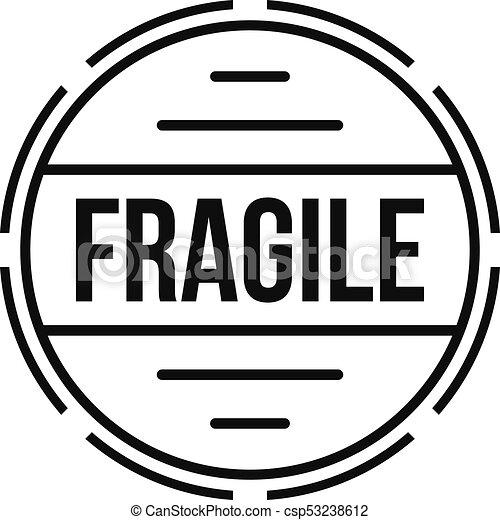 fragile logo simple style fragile logo simple vector clip art rh canstockphoto com fragile leg lamp fragile bloom