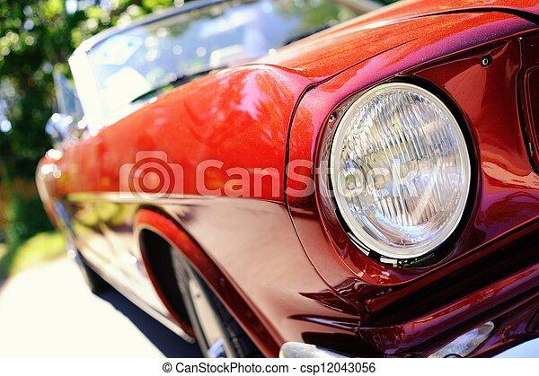 fragment, auto, retro, rotes  - csp12043056