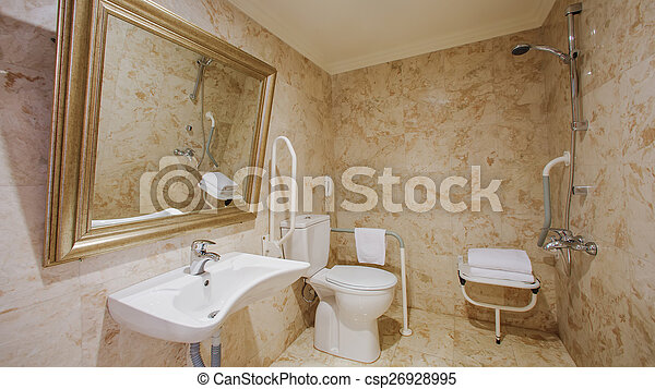 Fragment of a luxury bathroom - csp26928995
