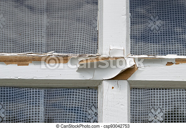 fragment of a wooden window - csp93042753