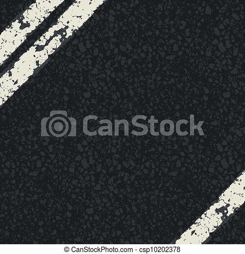 Fragment of asphalt road. Vector, EPS10 - csp10202378