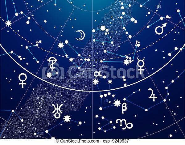 Fragment of Astronomical Celestial Atlas - csp19249637