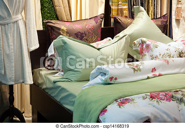 Fragment of interior bedroom - csp14168319