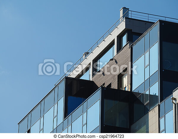 fragment of modern building - csp21964723