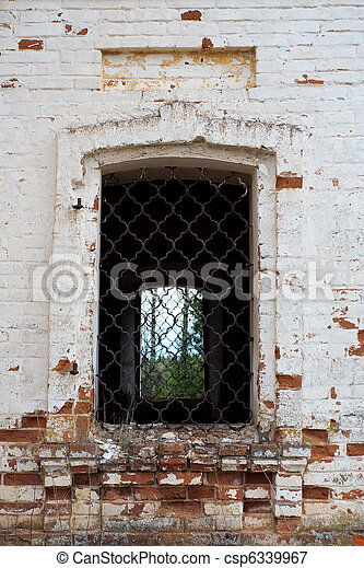 Fragment of old wall with a window - csp6339967