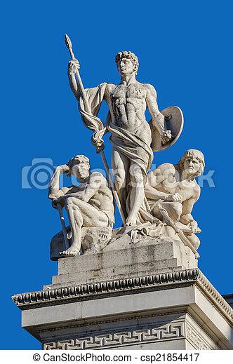 Fragment of Vittorio Emanuele monument II in Rome - csp21854417