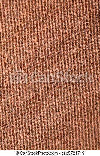 fragment pile carpet, brown-yellow with pattern, parallel lines. macro shooting - csp5721719