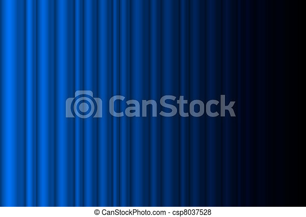 Fragmento de cortina de escenario azul oscuro - csp8037528