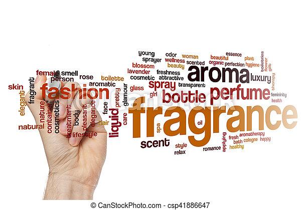 Fragrance word cloud concept - csp41886647
