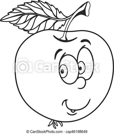 Dessin de pomme - Dessin pomme a colorier ...