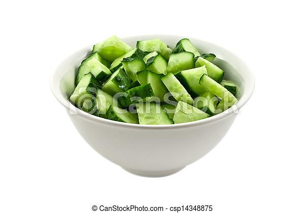 frais, salade, concombres - csp14348875