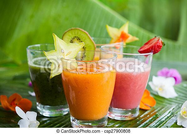 frais, smoothies, fruit - csp27900808