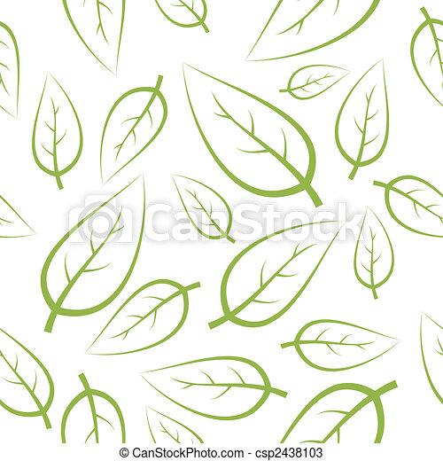 frais, vert, pousse feuilles, texture - csp2438103