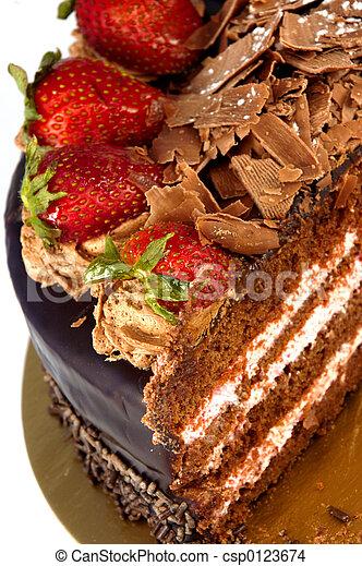 fraise, dessert - csp0123674