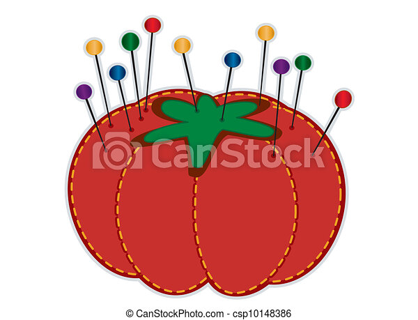 fraise, pelote épingles - csp10148386