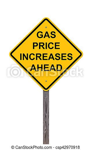 framåt, -, pris, gas, underteckna, ökar, varning - csp42970918