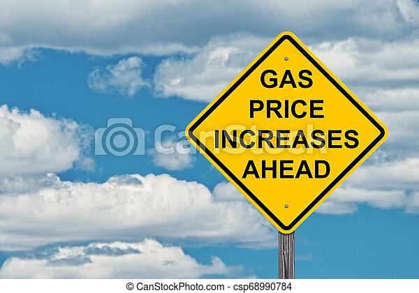 framåt, pris, gas, underteckna, ökar, varning - csp68990784