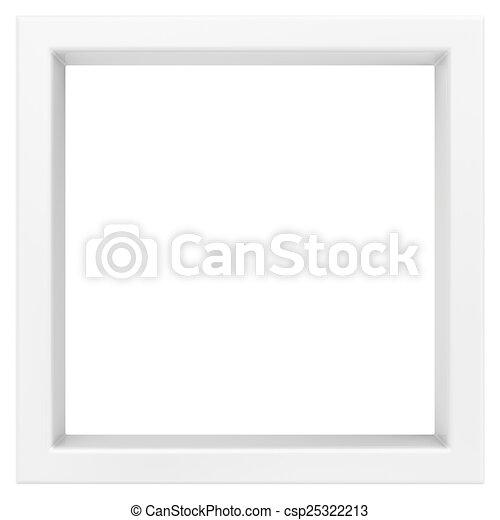 frame. 3d render on white background - csp25322213
