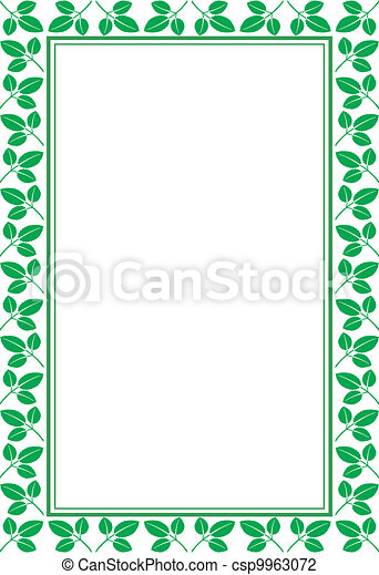 frame, bladeren - csp9963072