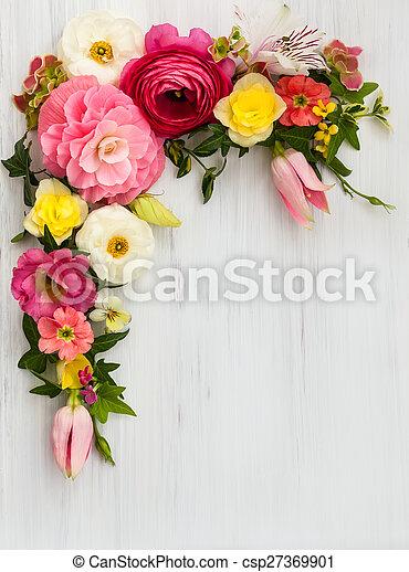 frame, bloemen - csp27369901