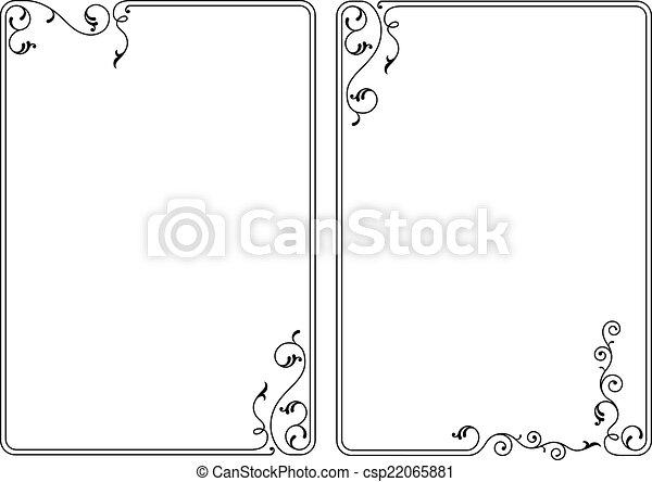Frame Border Design - csp22065881