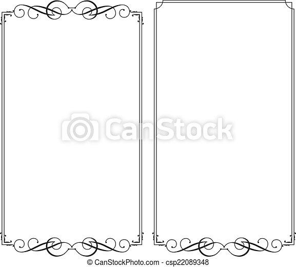 Frame Border Design - csp22089348