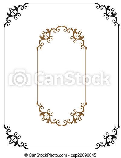 Frame Border Design - csp22090645