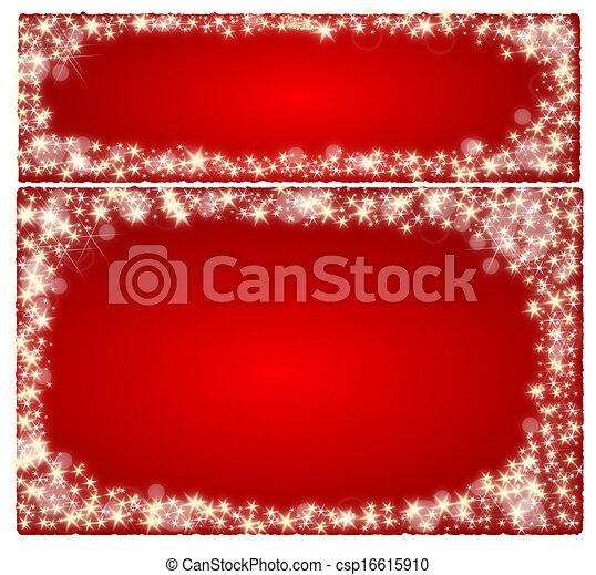 Frame christmas card - csp16615910