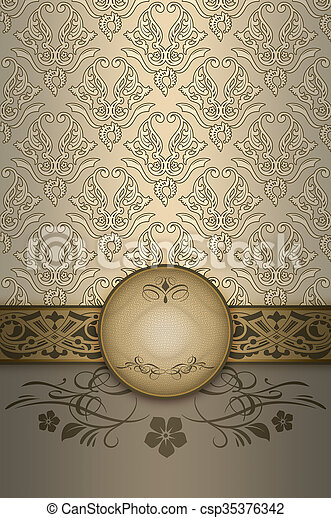 frame., decoratief, achtergrond, elegant - csp35376342