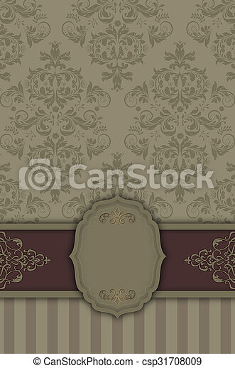 frame., decoratief, achtergrond, elegant - csp31708009
