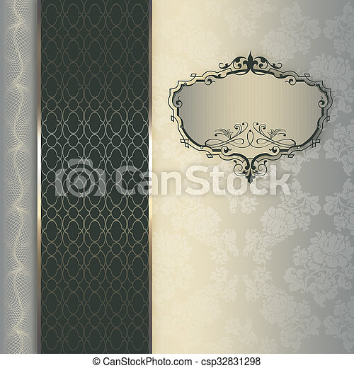 frame., decoratief, achtergrond, elegant - csp32831298