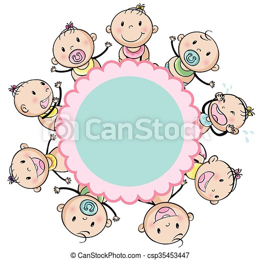 Frame design with many toddlers - csp35453447