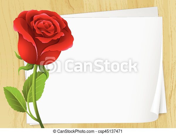 Frame design with red rose - csp45137471