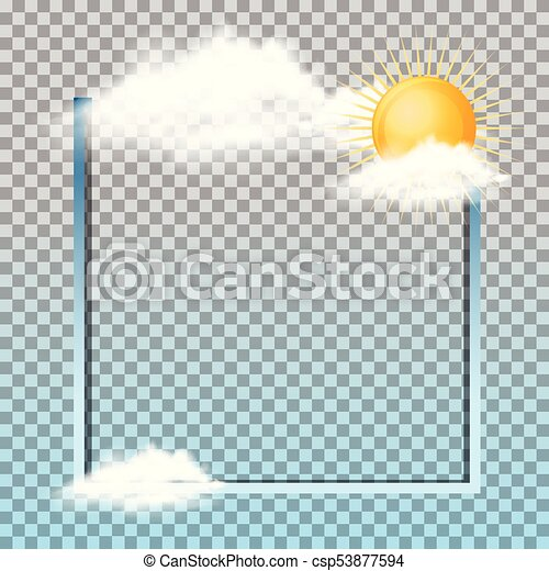 Frame design with sun in the clouds - csp53877594
