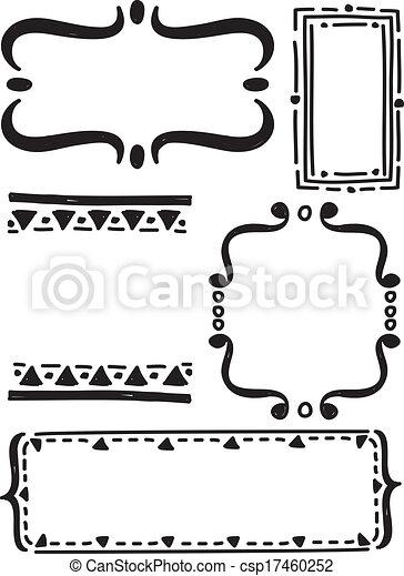 frame doodle - csp17460252