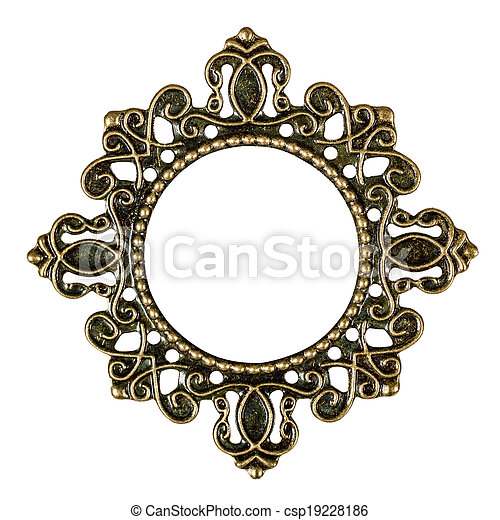 Frame, element for scrapbooking, isolated on a white background, - csp19228186