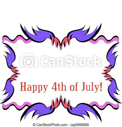 Frame for a Happy Fourth of July - csp5956690